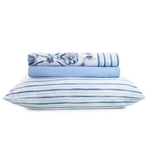 Jogo de cama queen size royal asturias 4 peças 100% algodão - Santista – 6373