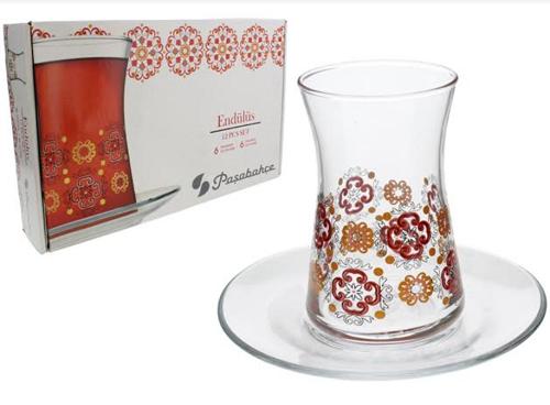 Jogo para Chá de Vidro 6 peças-6086
