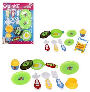 Kit Cozinha Color 11 Pecas