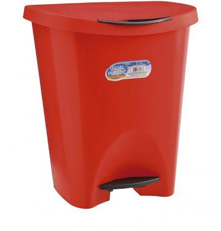 Lixeira com Pedal 15 litros Vermelha