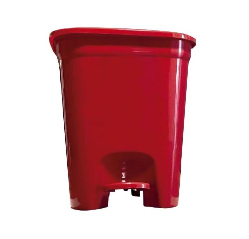 Lixeira Com Pedal 14 Litros Vermelha – Merconplas - 6779