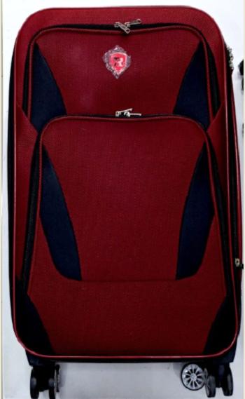 Maleta P/Viagem M 24 Vermelho Com Detalhes Preto 2-5731