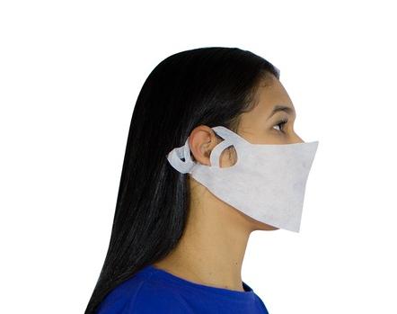 Máscara Semi Facial *Pacote com 25 Unidades* Cores Branca    *Saúde*