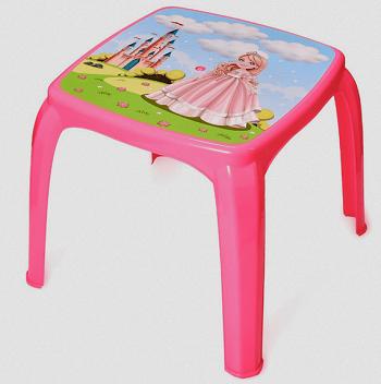 Mesa Infantil Decorada Princesa Usual-3705