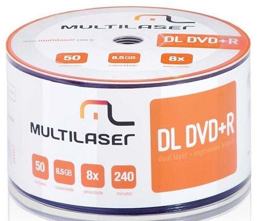 Mid Dvd+ R Dual Layer Vel.08X  - Multilaser - 829