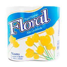 Papel Higiênico Floral  c/4 Und