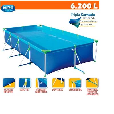 Piscina 6200 Litros Premium  75X206X399CM Mor - 6843