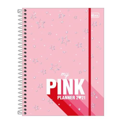 Planner Espiral 17,7 X 24 Cm Love Pink 2021 – Tilibra - 2439