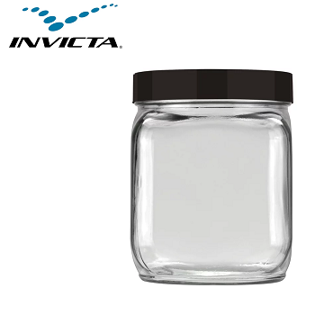 Pote Quadrado 0,75 Litros Mix Preto/ Branco / Vermelho Invicta-2298