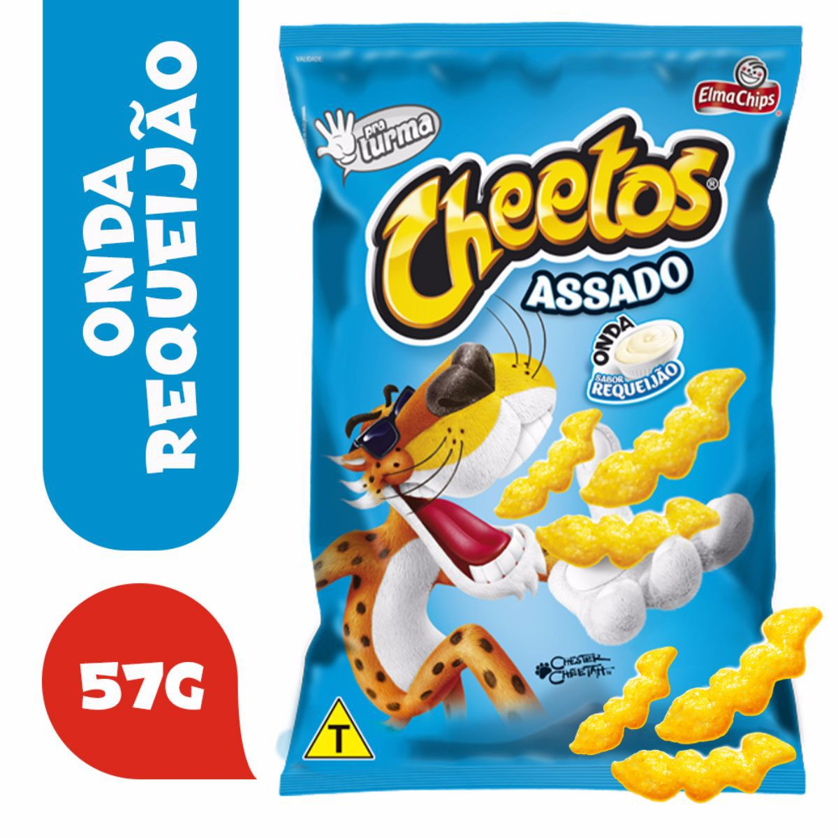Salgadinho De Milho Sabor Requeijão Cheetos Onda 57g