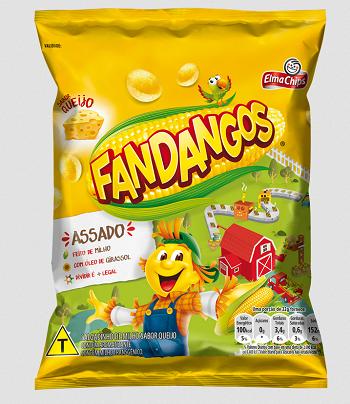 Salgadinho Fandangos Queijo 59g - Elma Chips
