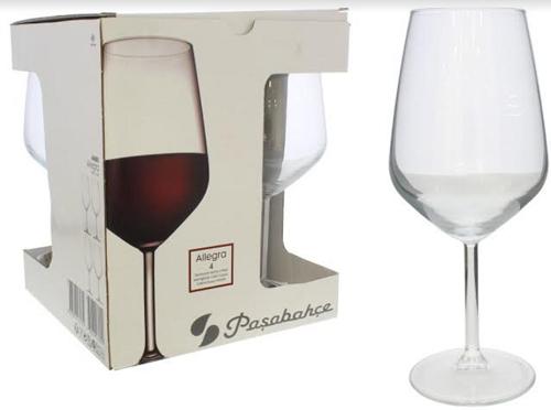 Taça de Vidro para Bebidas 4 Peças-6074
