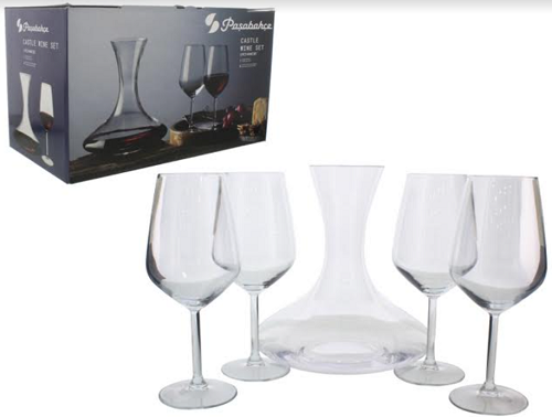Taça de Vidro para Bebidas 5 Peças-6076