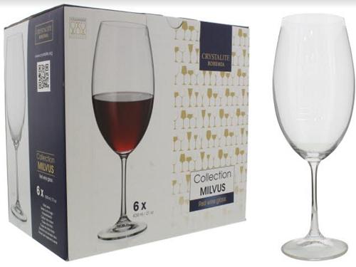 Taça de Vidro para Bebidas 6 Peças-6089