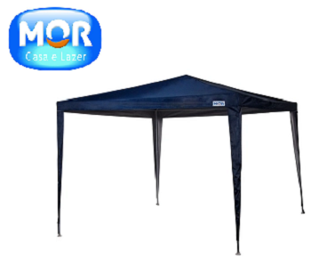 Tenda Gazebo Rafia azul 3x3 M Mor-6911