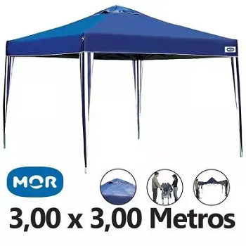 Tenda Gazebo X-Flex Oxford Azul  3,00x3,00mv - Mor  - 519