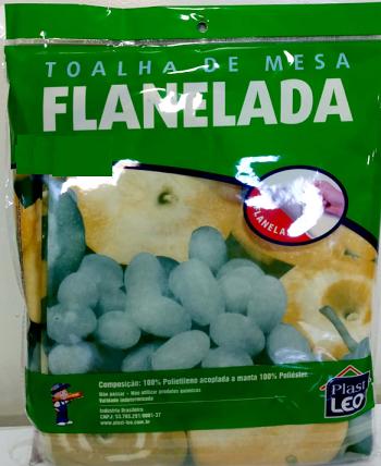 Toalha De Mesa Flanelada Polietileno Redonda  1,35m   -5435