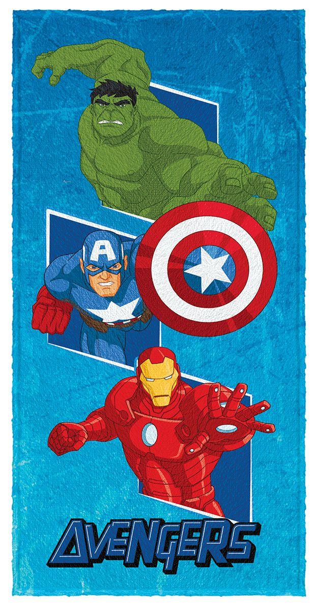 Toalha Felpuda de Banho Estampada Avengers 60 cm x 120 cm  - 5354