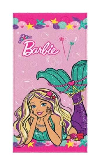 Toalha Felpuda de Banho Estampada Barbie Reinos Magicos 60 cm x 1,20 m-5359