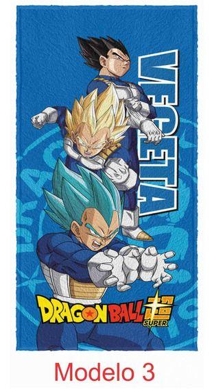Toalha Felpuda de Banho Estampada Dragon Ball 60 cm x 120 cm