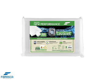 Travesseiro Látex Lavável Sintético Eucaliptus Fibrasca - 6314