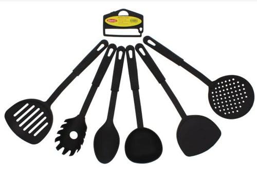 Utensílios para  Cozinha de Plástico 6 Peças