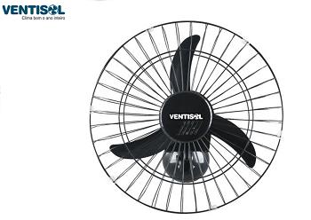 Ventilador Oscilante Parede 50CM Preto Grande Aço Ventisol-1025