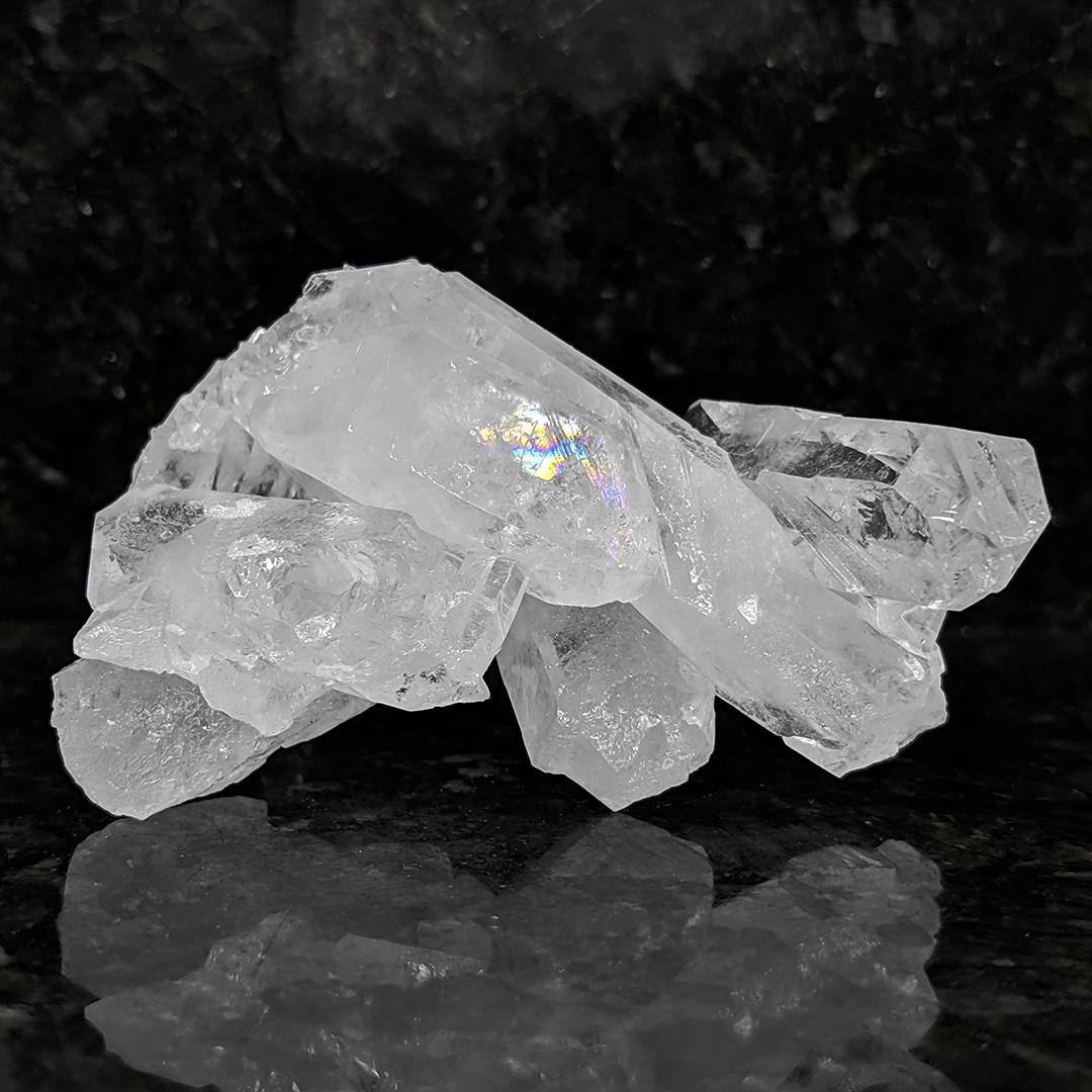 Cristal de rocha em drusa - 9 cm