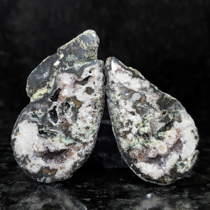 Geodo de ágata (par) - 5,8 cm
