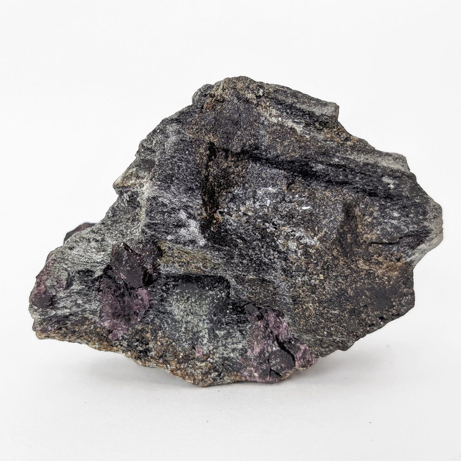 Granada almandina e estaurolita no xisto - 8,1 cm