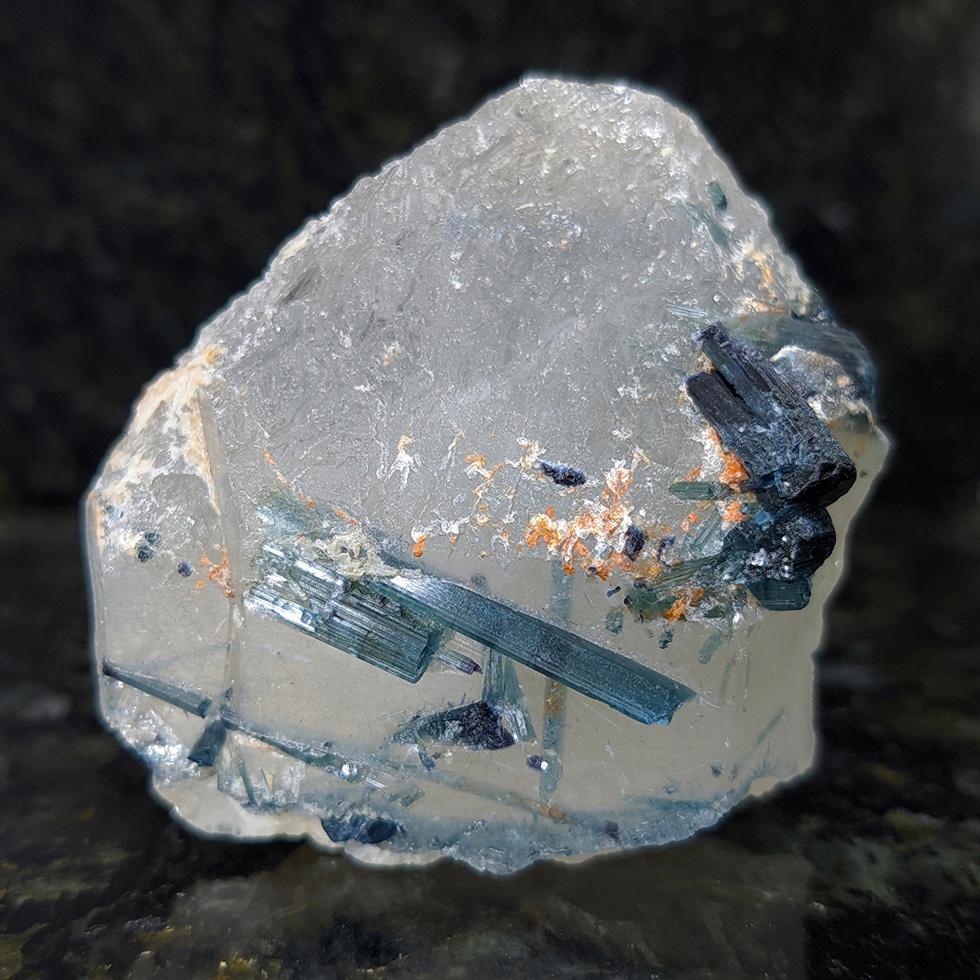 Indicolita no quartzo - 6,4 cm