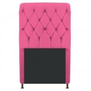 Cabeceira Estofada Cristal 100 cm Solteiro Com Capitonê Corano Pink - Doce Sonho Móveis