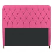 Cabeceira Estofada Cristal 140 cm Casal Com Capitonê Corano Pink - Doce Sonho Móveis