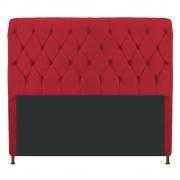 Cabeceira Estofada Cristal 160 cm Queen Size Com Capitonê Suede Vermelho- Doce Sonho Móveis