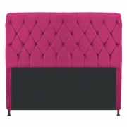 Cabeceira Estofada Cristal 195 cm King Size Com Capitonê Suede Pink - Doce Sonho Móveis