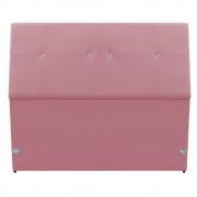 Cabeceira Estofada Itália 100 cm Solteiro Suede Rosa Bebê - Doce Sonho Móveis