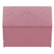 Cabeceira Estofada Itália 90 cm Solteiro Suede Rosa Bebê - Doce Sonho Móveis