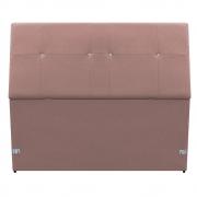 Cabeceira Estofada Itália 90 cm Solteiro Suede Rosê - Doce Sonho Móveis