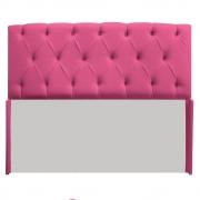 Cabeceira Estofada Lara 140 cm Casal Com Capitonê Corano Pink - Doce Sonho Móveis