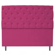 Cabeceira Estofada Liverpool 195 cm King Size Suede Pink - Doce Sonho Móveis