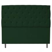 Cabeceira Estofada Liverpool 195 cm King Size Suede Verde - Doce Sonho Móveis