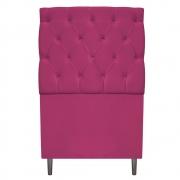 Cabeceira Estofada Liverpool 90 cm Solteiro Suede Pink - Doce Sonho Móveis