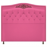 Cabeceira Estofada Yasmim 140 cm Casal Corano Pink - Doce Sonho Móveis