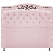 Cabeceira Estofada Yasmim 140 cm Casal Corano Rosa Bebê - Doce Sonho Móveis