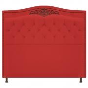 Cabeceira Estofada Yasmim 140 cm Casal Corano Vermelho - Doce Sonho Móveis