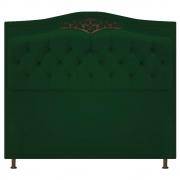 Cabeceira Estofada Yasmim 140 cm Casal Suede Verde - Doce Sonho Móveis