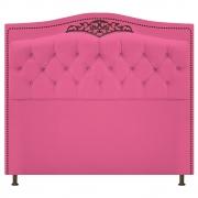 Cabeceira Estofada Yasmim 195 cm King Size Corano Pink - Doce Sonho Móveis