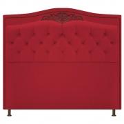Cabeceira Estofada Yasmim 195 cm King Size Suede Vermelho - Doce Sonho Móveis