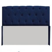 Cabeceira Lara 140 cm Casal Suede Azul Marinho - Doce Sonho Móveis