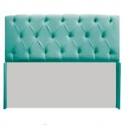 Cabeceira Lara 140 cm Casal Suede Azul Tiffany - Doce Sonho Móveis